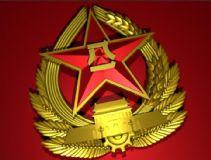 红色军徽maya模型