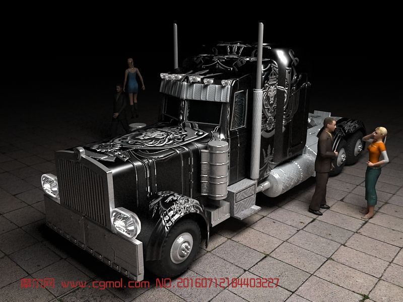 动画角色 科幻角色  标签:变形金刚擎天柱黑色卡车 作品描述:嘎嘎嘎