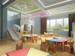 混搭风格幼儿园3D模型
