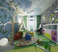 儿童智力启蒙教育教室模型