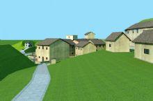 吉垅村村头老房子场景
