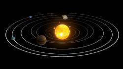 太阳系运行轨迹带动画贴图