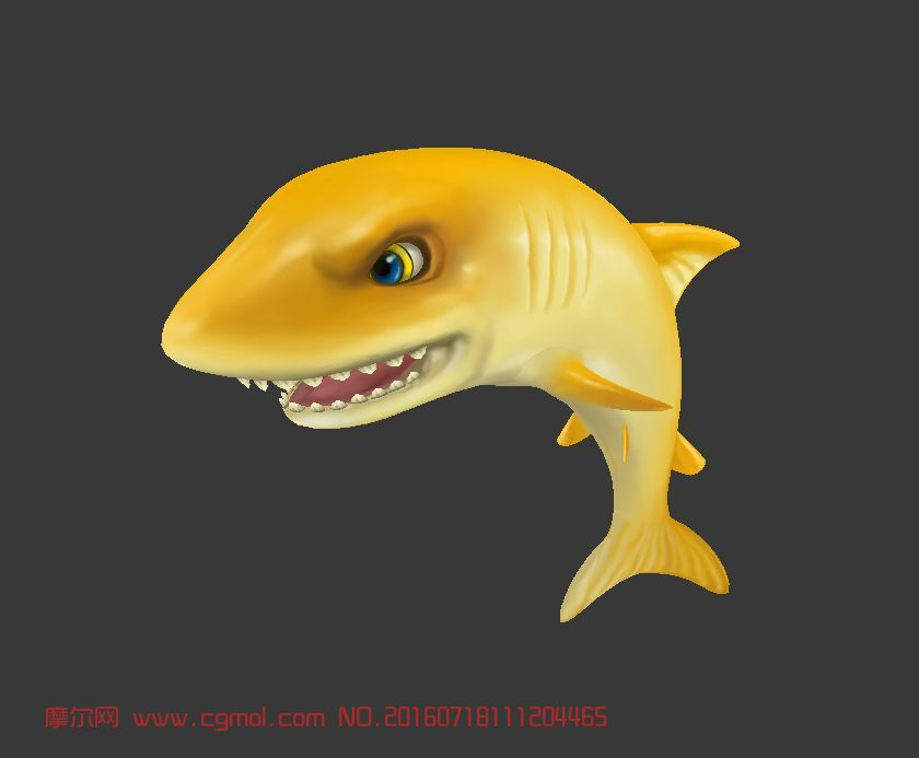 可爱的q版黄金小鲨鱼图片
