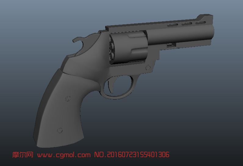 左轮枪max模型