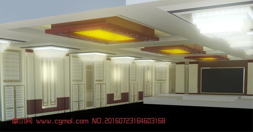 酒店宴会厅maya模型