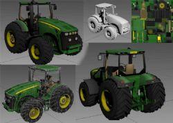 农业拖拉机模型