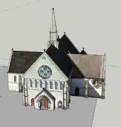 欧式小教堂su模型