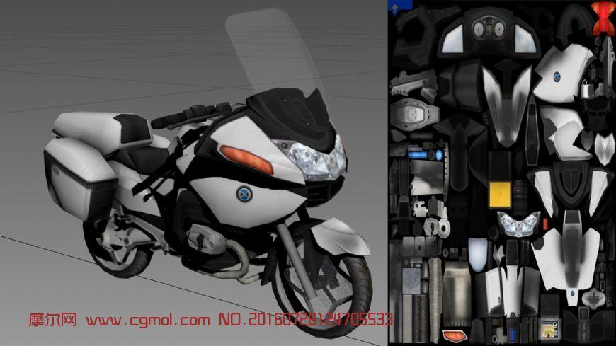 摩托车,游戏中的场景物件