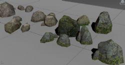 山石,石头,路边石 /游戏 虚拟仿真