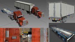 大卡车,挂车,拖车,长板车