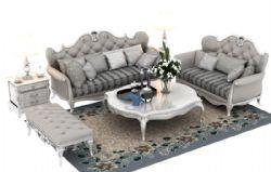 客厅欧式沙发套装设计效果