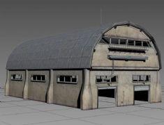 煤矿工业广场上的机电设备库