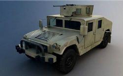 悍马军用武器装备车