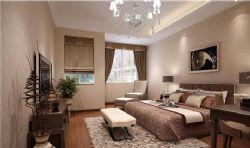 现代卧室,床