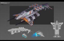 VF-1S科幻飞船