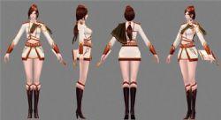 女军官,女秘书3D模型