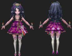 精灵族的小美女萝莉3D模型