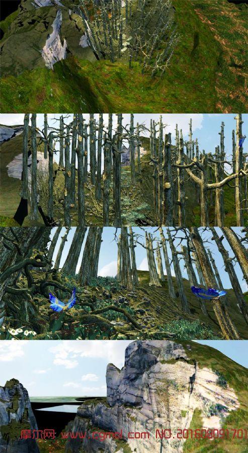 原始森林漫游动画场景