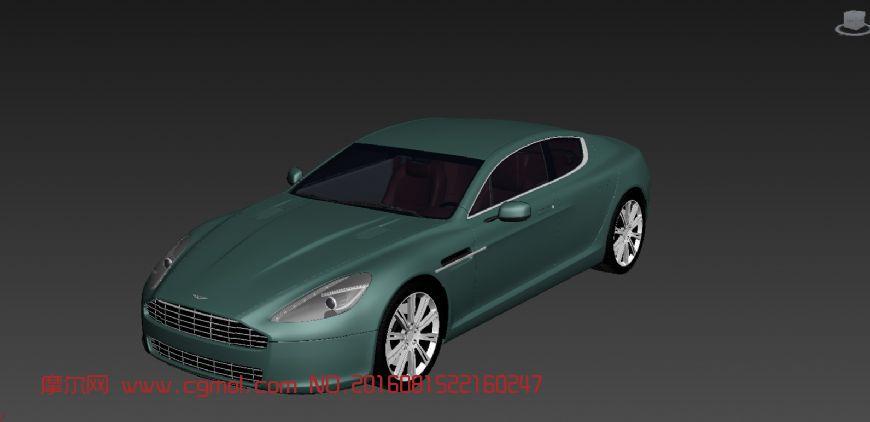 阿斯顿马丁rapide 2011汽车精模