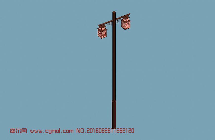 中式路灯图片