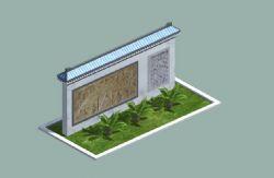 中式景墙(无铁树)