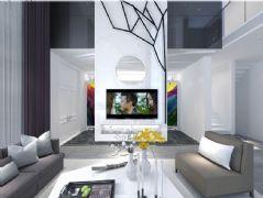 白色调别墅客厅
