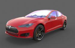 高精度特斯拉汽车maya模型