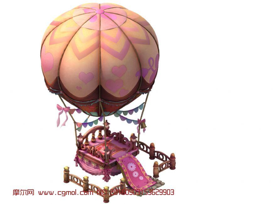 模型 q版热气球