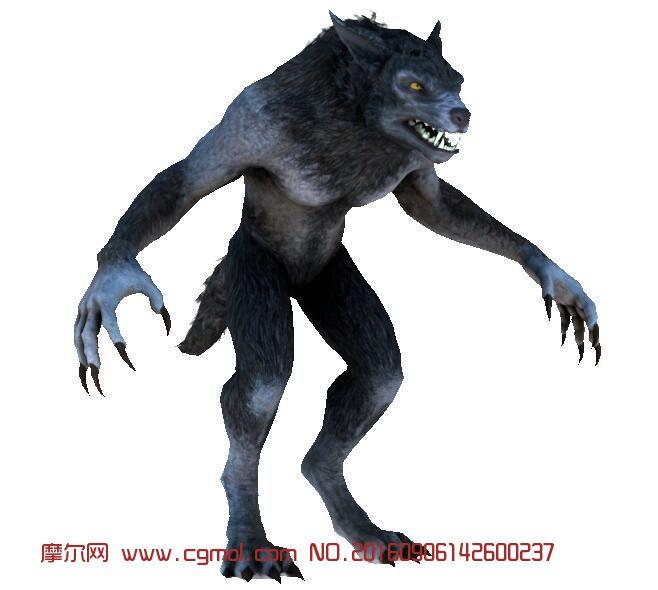 凶恶的狼人模型