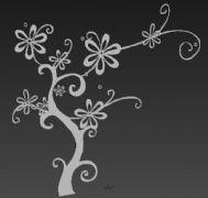 3D雕花树模型