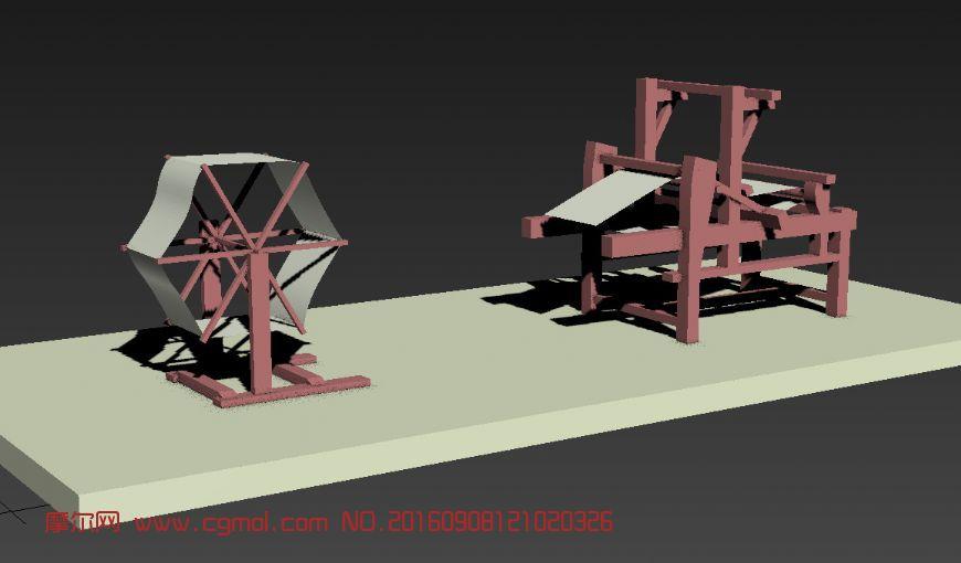 织布机3D模型