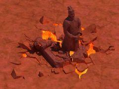 秦兵古墓,地宫秦兵俑,地下岩浆,破裂地面