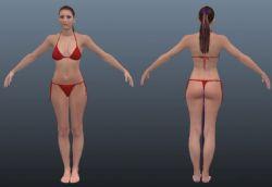 亚裔比基尼女孩maya模型