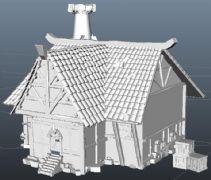 一款小屋maya模型