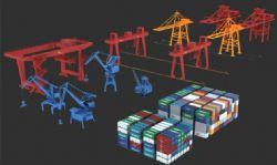 港口集装箱运输大型场景
