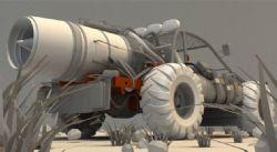 沙漠戈壁战车3D模型