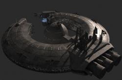 飞船母舰3D模型