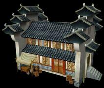 中式店铺建筑