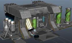 生化实验室maya模型