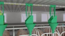 养殖场自动供料系统模型动画