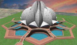 精美的喷泉异形建筑3D模型