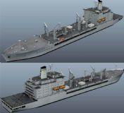 航母补给舰maya模型