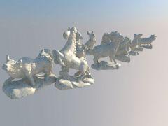 全套十二生肖精品石墩雕像