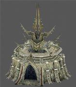 游戲中的一個戰爭城堡模型