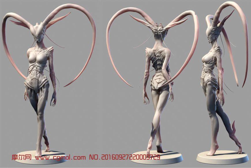 次时代人形昆虫器官组合怪兽zbrush模型,还有mb格式