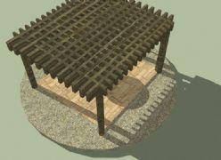 正方形木�|廊架亭子