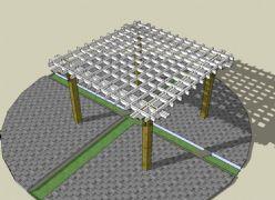 木质白廊架