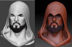 刺客帽胡子大叔zbrush模型