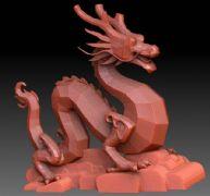 青龙雕塑zbrush模型