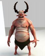 人形牛角暴丑怪物maya模型
